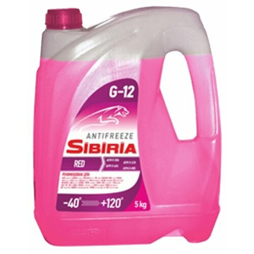 Антифриз SIBIRIA Антифриз -40 G12 5 кг.