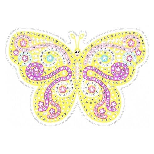 Color Kit Мозаика - стикеры Желтая бабочка (HD003) аппликации для детей color kit мозаика стикеры познаем мир дельфины и бабочки