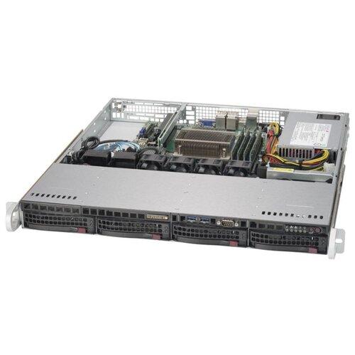 Сервер Supermicro SuperServer 5019S-MN4 без процессора/без ОЗУ/без накопителей/количество отсеков 3.5 hot swap: 4/1 x 350 Вт сервер supermicro superserver 5019s wr без процессора без озу без накопителей количество отсеков 3 5 hot swap 4 2 x 500 вт