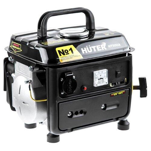 Бензиновый генератор Huter HT950A (650 Вт) газо бензиновый генератор huter dy4000lg 3000 вт