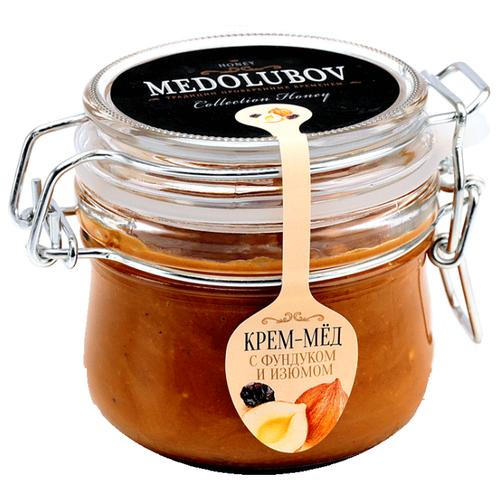 Крем-мед Medolubov с фундуком и изюмом (бугель) 250 мл