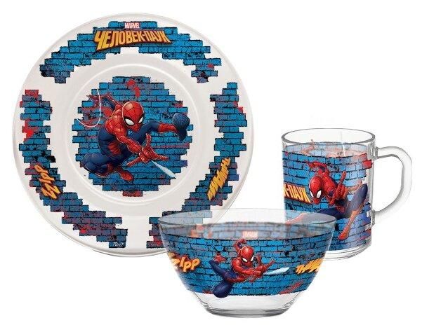 Набор для завтрака PRIORITY Человек паук 3 предмета