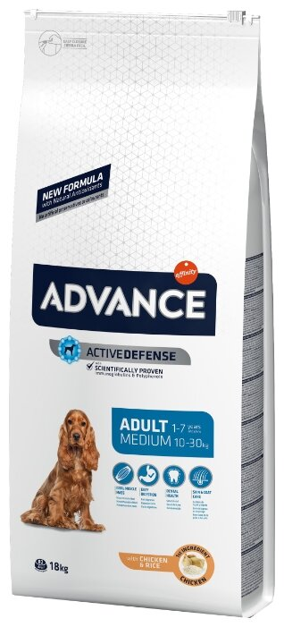 Корм для собак Advance Medium Adult курица и рис
