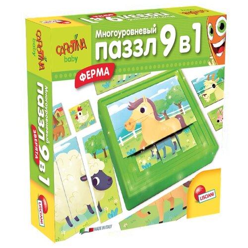 Фото - Набор пазлов Lisciani Giochi Ферма 9 в 1 (R63482) настольная игра lisciani giochi логика 3 в 1 r55067