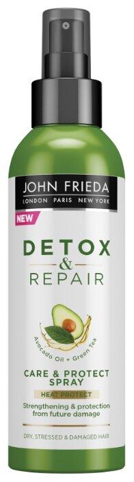 John Frieda Detox & Repair Несмываемый спрей для укрепления волос с термозащитой