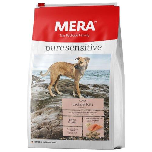 Корм для собак Mera (12.5 кг) Pure Sensitive с лососем и рисом для взрослых собак корм для собак mera 1 кг pure sensitive junior с индейкой и рисом для щенков