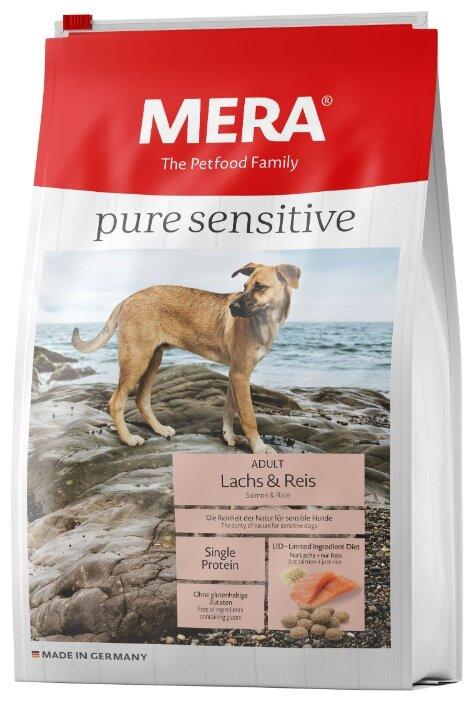 Корм для собак Mera (4 кг) Pure Sensitive с лососем и рисом для взрослых собак