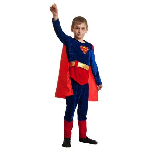 Купить Костюм Elite CLASSIC Супермен, синий, размер 30 (122), Карнавальные костюмы