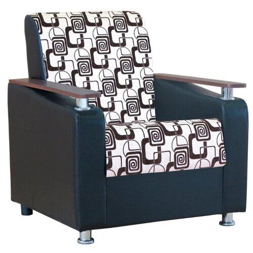 Классическое кресло Шарм-Дизайн Мелодия ДП №1 размер: 79х84 см, обивка: комбинированная, цвет: шенилл ромб