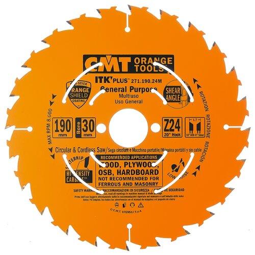 Пильный диск CMT 271.190.24M 190х30 мм диск пильный зубр 190х30 мм 24т 36850 190 30 24