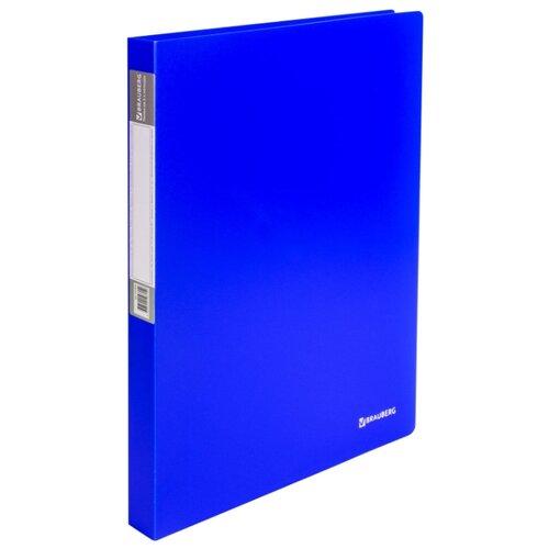 Купить BRAUBERG Папка на 2 кольцах Neon А4, 25 мм Синяя, Файлы и папки