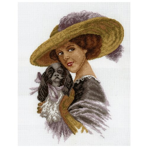 Hobby & Pro Набор для вышивания Дама с собачкой 37 х 26 см (601)Наборы для вышивания<br>