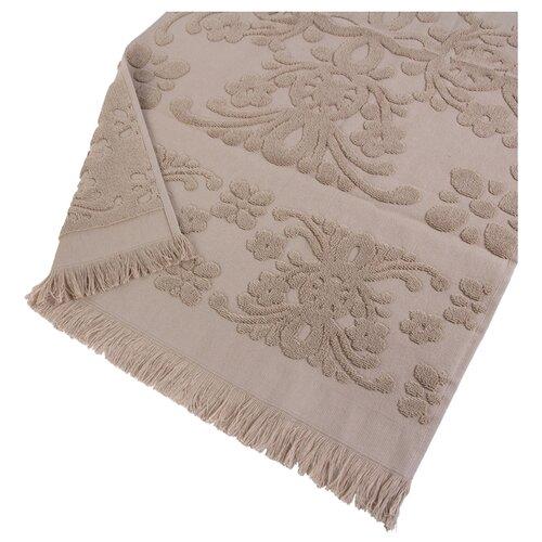 Arya Полотенце с бахромой Isabel Soft для лица 50х90 см бежевый arya полотенце с бахромой isabel soft пляжное 100х150 см бежевый