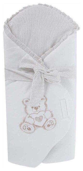 Конверт-одеяло Leader Kids Мишка с сердцем