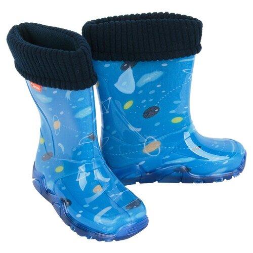 Резиновые сапоги Demar размер 32/33, голубойРезиновые сапоги<br>