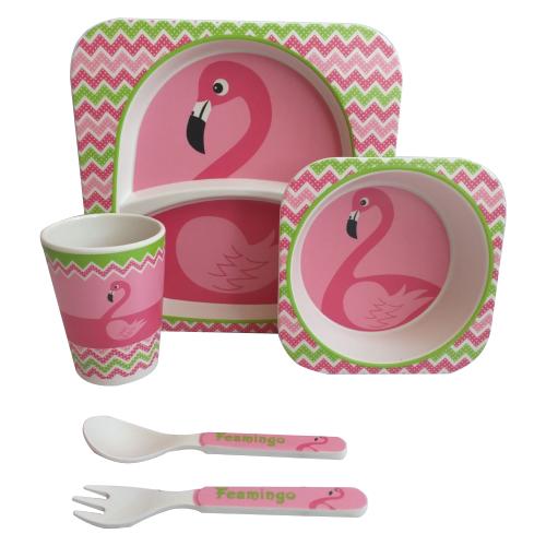 Комплект посуды Baby Ryan BF001 фламинго