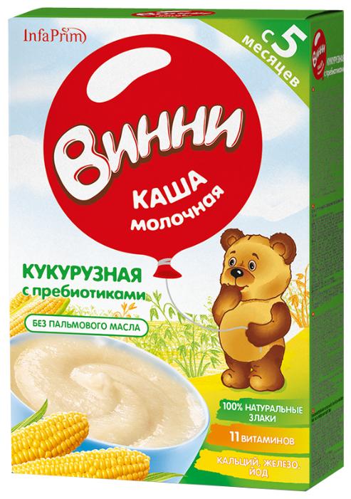 Каша Винни молочная кукурузная с пребиотиками (с 5 месяцев) 220 г