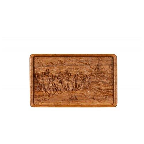 Домино Rovertime в резной шкатулке Бурлаки на Волге, мореный дуб чернослив шоколадный кремлина самолет в резной деревянной шкатулке 400 г