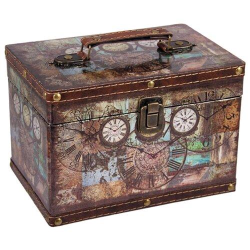 Русские подарки Шкатулка Сундучок 83607 коричневый