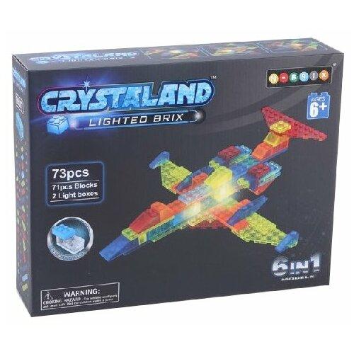 Купить Конструктор Crystaland Lighted Brix 99007 Истребитель, Конструкторы