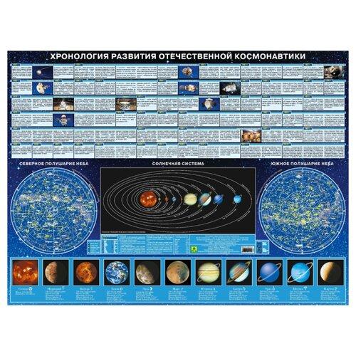 Купить Плакат РУЗ Ко Хронология развития отечественной космонавтики. Настольное издание, Обучающие плакаты