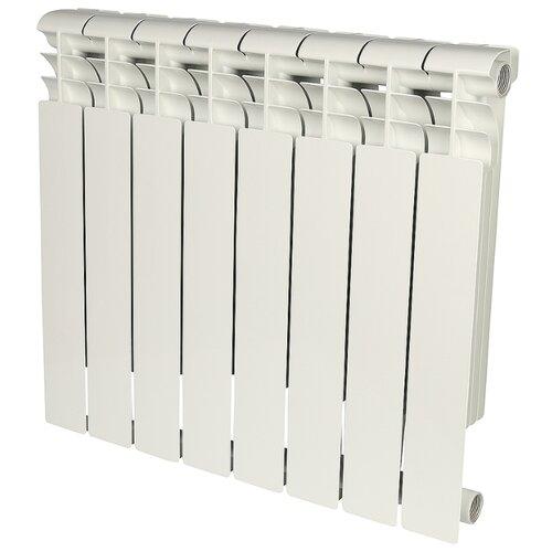 Радиатор секционный алюминий ROMMER Profi AL 500 x8 подключение универсальное боковое RAL 9016 биметаллический радиатор rifar рифар b 500 нп 10 сек лев кол во секций 10 мощность вт 2040 подключение левое