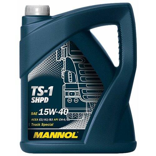 Фото - Минеральное моторное масло Mannol TS-1 SHPD 15W-40 5 л минеральное моторное масло mannol diesel 15w 40 7 л