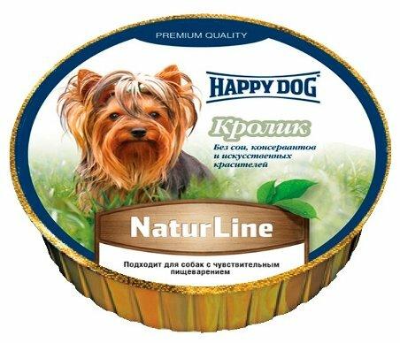 Корм для собак Happy Dog NaturLine кролик 16шт. х 125г