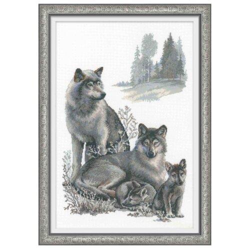 Купить Риолис Набор для вышивания Premium Волки 40 х 60 см (100/021), Наборы для вышивания