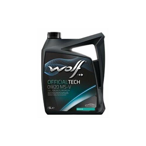 Синтетическое моторное масло Wolf Officialtech 0W20 MS-V, 5 л