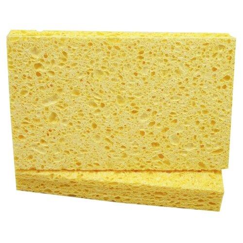 губка металлическая фэйт корнет 3 цвет серый 3 шт Впитывающая губка aQualine прямоугольная 3 шт., желтый