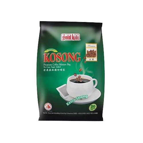 Молотый кофе Gold Kili Kopi O Kosong Extra Strong без сахара, в фильтр-пакетах (20 шт.) имбирь натуральный gold kili пакетированный 80 г 20 саше