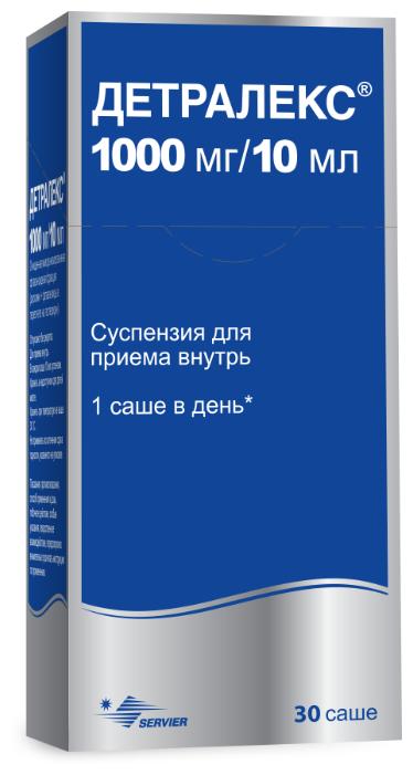 Детралекс сусп. д/вн. приема 1000 мг/10 мл саше 10 мл №30