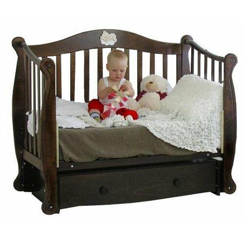 Купить Кроватка Красная Звезда Валерия С707 Мишка на облаке (классическая), продольный маятник шоколад, Кроватки