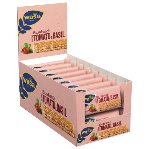 Хлебцы ржаные Wasa Sandwich Cheese, Tomato & Basil 40 г 24 шт