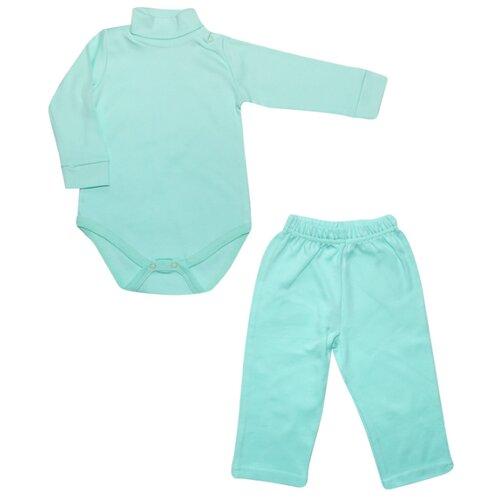 Комплект одежды Клякса размер 80, зеленыйКомплекты<br>