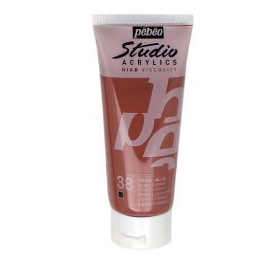 Купить Pebeo Краска акриловая Studio Acrylics, 100 мл сиена жженая, Краски
