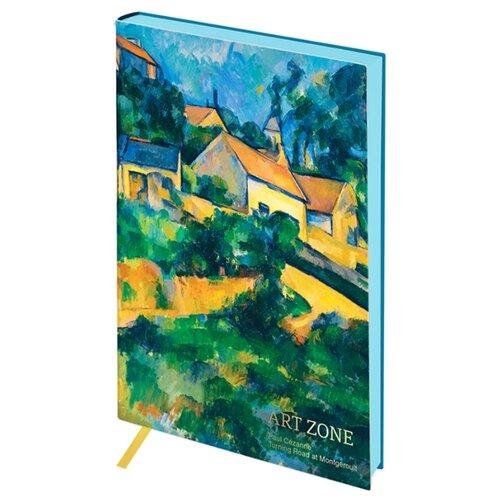 Ежедневник Greenwich Line Vision. Cezanne. Turning Road, искусственная кожа, А5, 80 листов, зеленый/голубой