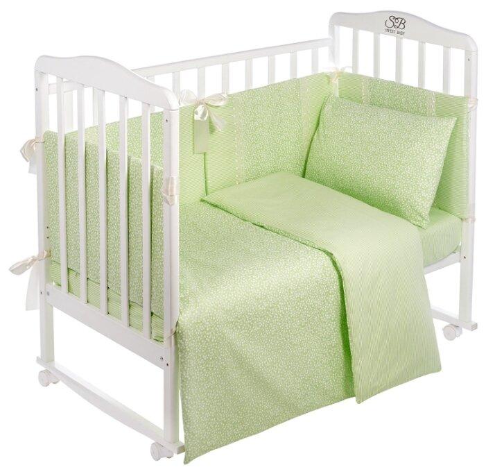 Комплект в кроватку SWEET BABY Venere Verde Светло-зеленый, 9 предметов