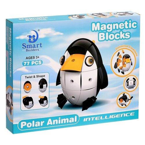 Купить Магнитный конструктор Smart Builders Magnetic Blocks 305 Полярные животные, Конструкторы