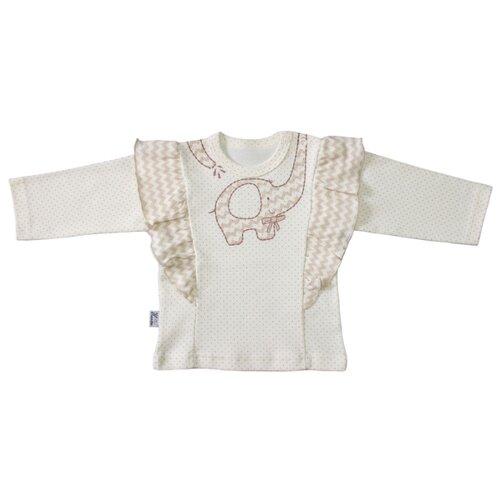 Лонгслив Жанэт размер 74, молочныйФутболки и рубашки<br>