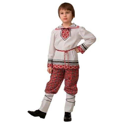 Купить Костюм Батик национальный для мальчика Jeanees (5601), красный/белый, размер 140, Карнавальные костюмы