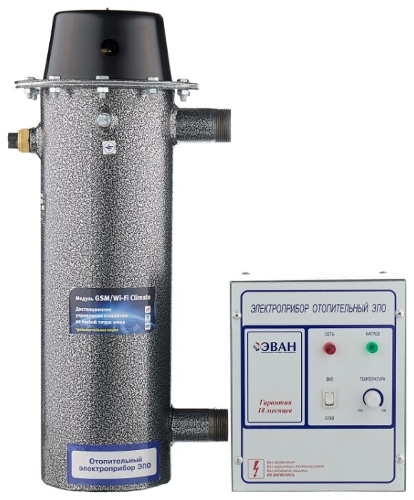 Электрический котел ЭВАН ЭПО 9,45 220, 9.45 кВт, одноконтурный фото 1