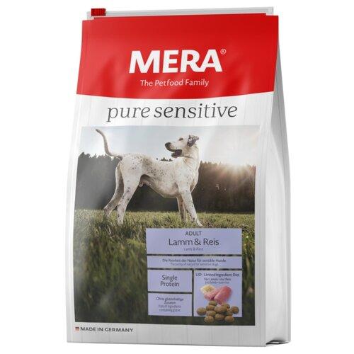 Корм для собак Mera (12.5 кг) Pure Sensitive с ягненком и рисом для взрослых собак корм для собак mera 1 кг pure sensitive junior с индейкой и рисом для щенков
