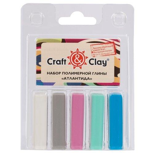 Полимерная глина Craft & Clay Атлантида, 5 цветов по 20 г