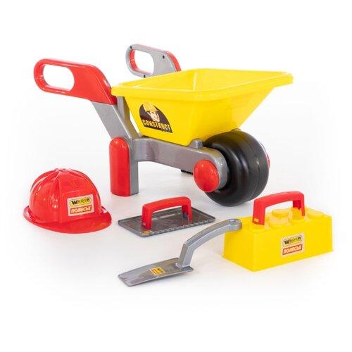 Купить Полесье Тачка №4 Construct + набор каменщика №3 Construct (50212), Детские наборы инструментов