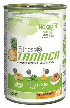 Корм для собак TRAINER Fitness3 No Grain Adult Medium&Maxi Vegetal canned (0.4 кг) 1 шт.