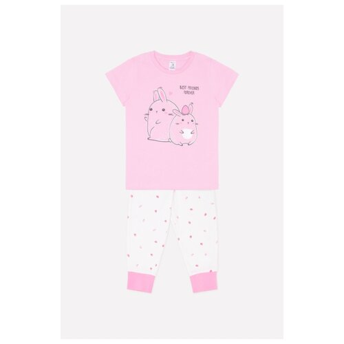 Пижама crockid размер 86, розовый/белый