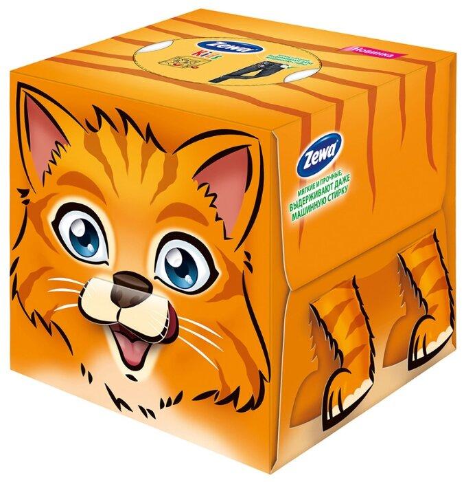 Салфетки косметические ZEWA KIDS детские, 3-слойные 60 листов, кубик