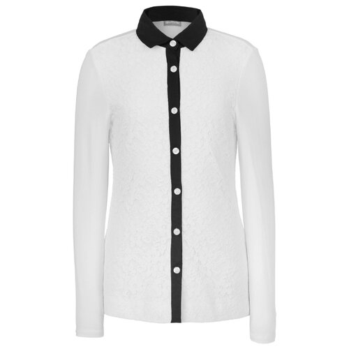 Рубашка Gulliver размер 170, белый платье oodji ultra цвет красный белый 14001071 13 46148 4512s размер xs 42 170